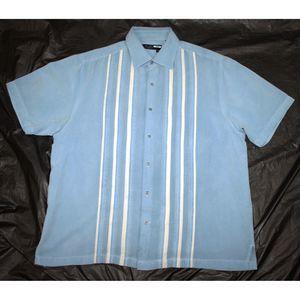 Nat Nast Short Sleeve Button Front Shirt Size L